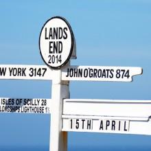 Famous Land's End signpost