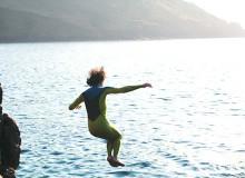 Wilde Schwimmen in Cornwall