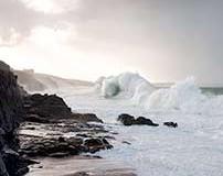 Sturmbeobachtung in Cornwall